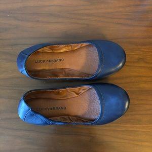 Lucky Brand Emmie Flats Navy Blue